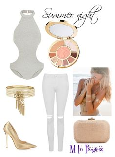 #summernight #ootn #simple #chick #classy by magdishia on Polyvore featuring moda, Zimmermann, Topshop, Jimmy Choo, Judith Leiber, Lulu DK, BCBGeneration and tarte