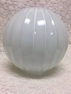 Your place to buy and sell all things handmade Vintage Light Fixtures, Vintage Lighting, Bathroom Sconces, Glass Replacement, Glass Globe, Lamp Shades, Globes, Ribs, Clear Glass