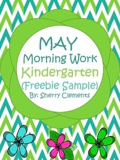 FREEBIE SAMPLE - May Morning Work (Kindergarten) - Includes Language Arts and Math daily with writing and correcting sentences. Also great for homework and center time (Daily 5).