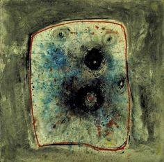 Wols (a.k.a. Alfred Otto Wolfgang Schulze) Bild, Painting.(1944-45)   L'esplorazione stratificata  di un sottosuolo arcano