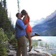 #engagement #photoshoot #lakelouise #beautiful #markderryphotography
