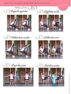 KÖNNYŰ GYAKORLATOK DERÉKFÁJÁS ELLEN Workout, Work Out, Exercises