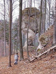 Skalní útvar Budzogáň na východním úbočí Žibridu+
