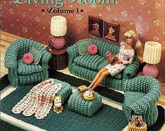 Free crochet pattern doll sofa crochet pinterest dolls crochet barbie furniture crochet for beginners ccuart Images