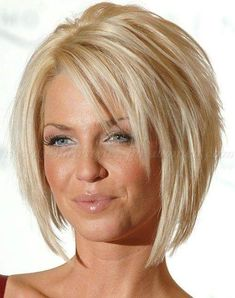 Blonde Angled Front Long Back Short Hairs