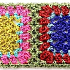simulated braid join granny squares