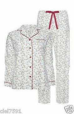 Womens Brushed Cotton Christmas Pyjamas Ladies Flannel Pjs Nightwear 6 20 New Cute Lazy Outfits, Trendy Outfits, Girl Outfits, Fashion Outfits, Bohemian Fall Outfits, A Line Skirt Outfits, Cute Sleepwear, Quoi Porter, Pajama Outfits