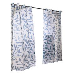Leaf Indoor/Outdoor Grommet Curtain Panel