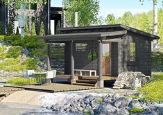 Cabin Homes, Log Homes, Building A Shed Roof, Lakeside Cabin, Wooden Sheds, She Sheds, Roof Design, Sweet Home, Cottage