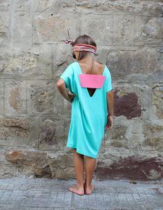 Backless Girls dress Maxi Girls Dress Mint by cherryblossomsdress
