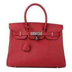 Hermes Birkin 30CM Burgundy H3 tote bag original leather