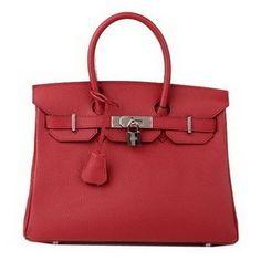 Hermes Birkin 30CM Burgundy H3 tote bag original leather