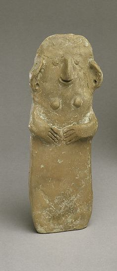Terracotta plank-shaped figurine. Middle Cypriot I, ca. 1900-1800 B.C.