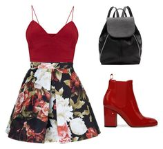 Red Floral by delnazzz on Polyvore