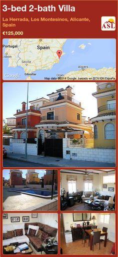 3-bed 2-bath Villa in La Herrada, Los Montesinos, Alicante, Spain ►€125,000 #PropertyForSaleInSpain