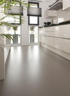 70 Smooth Concrete Floor Ideas for Interior Home Painted Concrete Floors, Stained Concrete, Cement Floors, Basement Flooring, Kitchen Flooring, Modern Flooring, Flooring Ideas, Epoxy Floor, Floor Design