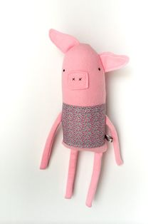 Plush Pig Friend Finkelstein's Center Handmade by finkelsteins