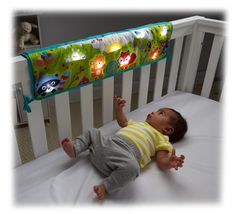 Amazon.com : Fisher-Price Woodland Friends Twinkling Lights Crib Rail Soother : Baby