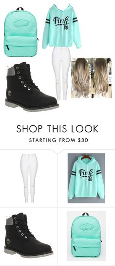 """Untitled #130"" by jazel117 on Polyvore featuring Topshop, Timberland and Vans"