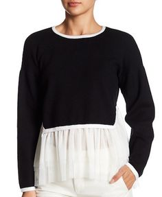 Mesh Bottom Layered Top - $26.97