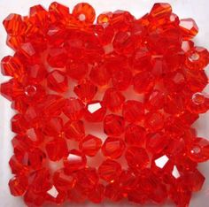 Isywaka Popular Sale Red AB 100pcs 4mm Bicone Austria Crystal Beads charm Glass Beads Loose Spacer Bead for DIY Jewelry Making