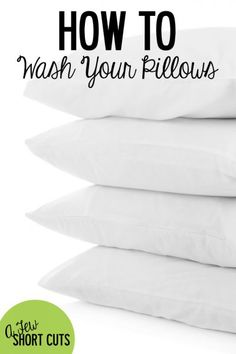 When was the last time you washed your pillows? It's about time to tackle that project, but it is super simple. Check out How to Wash Your Pillows.