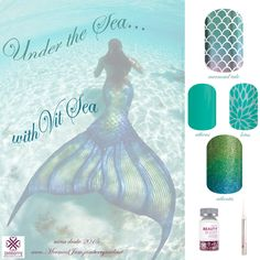 Release your Inner Mermaid with our Mermaid Tale collection! We have beautiful, beachy, watery, ocean colors, ready for your fingertips heart emoticon Keep your Hair, Nails & Skin full of Vit Sea with our Beauty Boost, and those salty cuticles nice and soft with our cuticle oil pen! designed by mina drake 2015 all rights reserved do not crop, edit nor alter image is watermarked. you may use and share but please do not change. thank you. http://MermaidJam.jamberrynails.net
