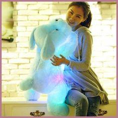 1pc 50cm luminous dog plush doll colorful LED glowing dogs children toys for girl kidz birthday gift free shipping WJ445