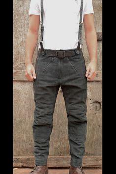 El Solitario | Rascal Leather Motorcycle Pants Black | El Solitario MC