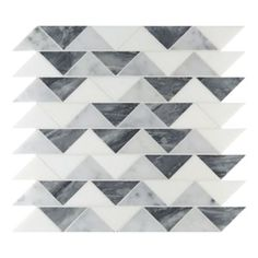 Liaison by Kelly Wearstler Cannon Small mosaic in Charcoal Blend. In-stock pattern perfect for kitchen backsplash, bathroom floor, and many other design projects.