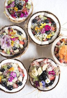 From salty to sweet, check out these healthy summer bowls that are almost too pretty to eat.