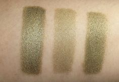 Sweet Libertine Cosmetics Mineral Shadow in: Spirit Animal. This shade is an antique bronze with almost a metallic finish. Swatches l-r: wet/dry/dry over primer
