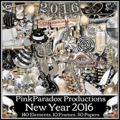 PinkParadox Productions: Stunning new Verymany tube & kit match. Pink Paradox, New Years 2016, Year 2016, 10 Frame, Kit, Printable Paper, Digital Scrapbooking, Digital Papers, Yandex Disk