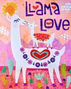 As it's mother's day, I just wanted to tell you that I Llama you dearest MummyLlam! Alpacas, Alpaca Illustration, Illustration Art, Llama Peruana, Llama Face, Llama Llama, Llama Arts, Llama Birthday, Cute Llama