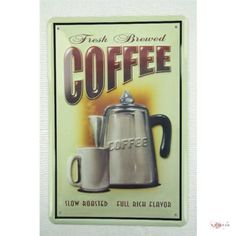 """Blechschild 20x30 cm """" COFFEE """" Kaffeepot mit Blechkanne tin sign enseignes en metál Metallschild Retro Werbung Blechschilder , http://www.amazon.de/dp/B005Y97AOG/ref=cm_sw_r_pi_dp_EL7Esb012YKGQ"""