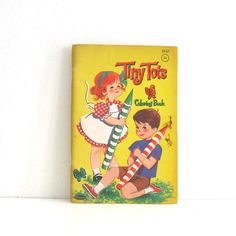 Vintage 1960s Coloring Book  Tiny Tots by Whitman by ismoyo, $6.00