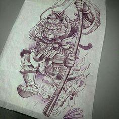 a514df71962d8 Moños Tattoo, Demon Tattoo, God Tattoos, Samurai Tattoo, Dali Tattoo, King