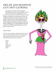 Printables Day Of The Dead Worksheets pinterest the worlds catalog of ideas worksheets day dead doll