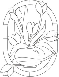 Would make a beautiful stained glass quilt. Stained Glass Quilt, Stained Glass Flowers, Faux Stained Glass, Stained Glass Designs, Stained Glass Projects, Stained Glass Patterns, Mosaic Patterns, Embroidery Patterns, Glass Painting Patterns