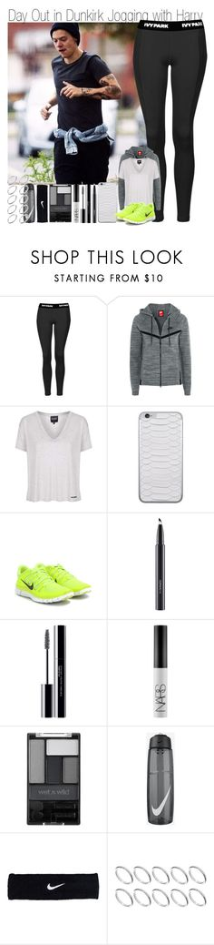 """Day Out in Dunkirk Jogging with Harry"" by elise-22 ❤ liked on Polyvore featuring Ivy Park, NIKE, Topshop, Jamie Clawson, MAC Cosmetics, shu uemura, NARS Cosmetics, Wet n Wild and ASOS"