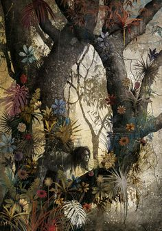 Gabriel Pachecoillustrations (2013)for The Jungle BookbyRudyard Kipling