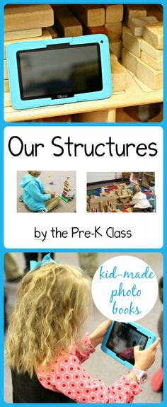 Use technology in preschool as a way to encourage literacy. Students use the Kurio XTreme to create their own books about their structures. Includes GIVEAWAY to win a Kurio XTreme!!