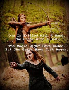 One is skilled with a wand, the other with a bow... omg I love this