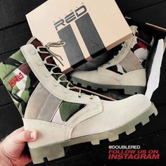 #camuflage #shoes #doublered #army #armystyle #armyboots #camuflage #camo #armyfashion #military #militarystyle #militaryboots #unisex #soldier #offroad #offroadboots #offroadlife #reddesert #reddressing #fashionkiller