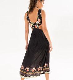 vestido midi floral moema