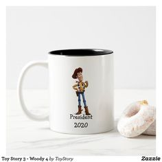 Toy Story 3 - Woody 4 Coffee Mug Treat Yourself, Make It Yourself, Create Your Own Mug, Toy Story 3, Candy Jars, Diy Face Mask, Business Supplies, Woody, Gifts For Dad