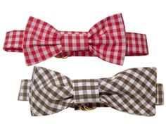 Recycled Checkered Cotton Pet Bowtie - Paws en Vogue || The perfect accessory for your preppy pup. Focusing on providing the best of organic, environmentally-friendly and fair-trade products to your 4-legged friends, because we care about the health and well-being of your pets, the planet, and how and by whom our products are made! Made of upcycled cotton with an adjustable d-ring closure.