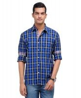 FLAT 30% OFF! Check Shirt- Blue & Black!