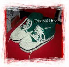 I can make these adorable sneaker slippers in any color, and they can be done in any size. They make a great Christmas or birthday gift, and an