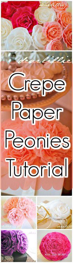 DIY Crepe Paper Peonies Tutorial - 30 DIY Paper Flowers (Step by Step Tutorials / Template) - Page 4 of 6 - DIY & Crafts